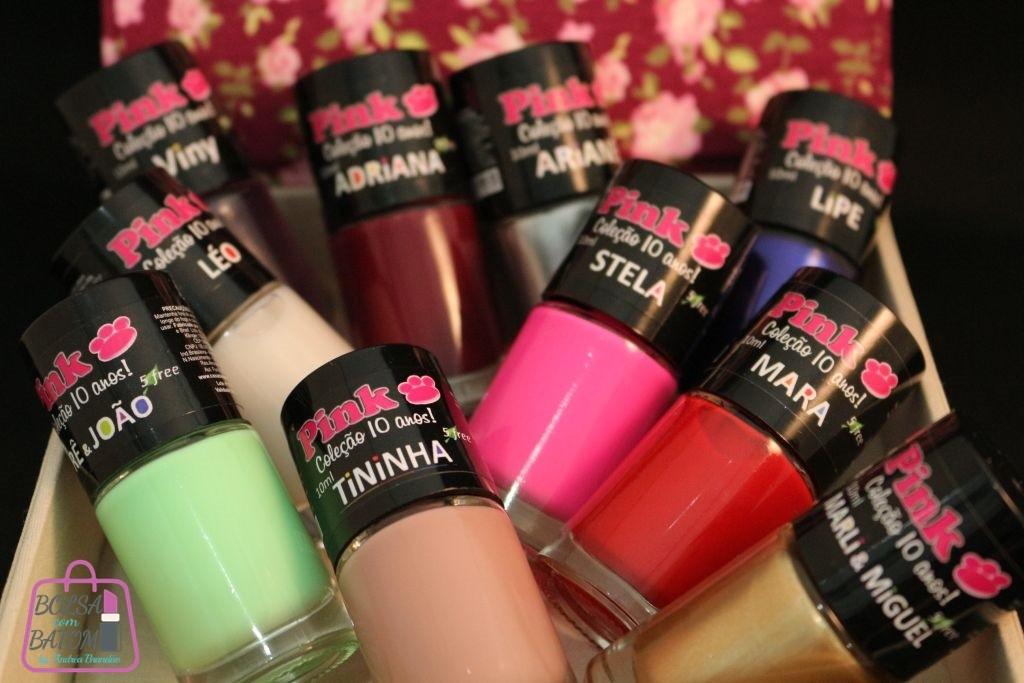 coleção pink casa da manicura