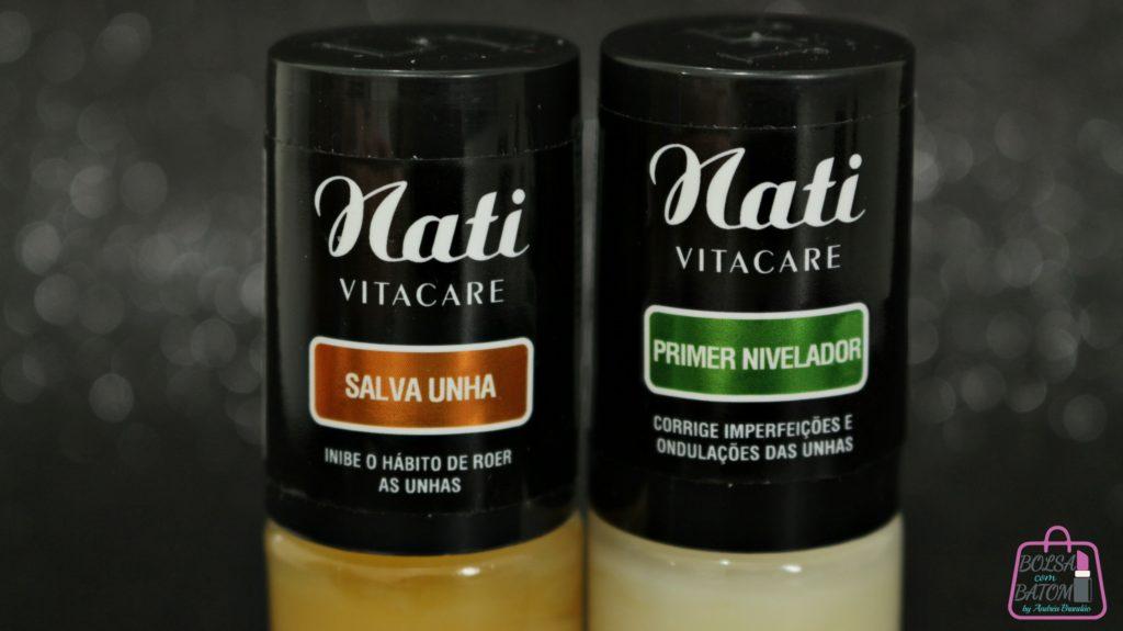 Salva Unha e Primer Nivelador da Linha Nati VitaCare